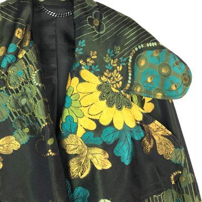 flower pattern jacket green